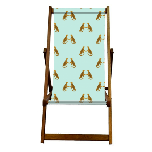 Mirrored Tigers - canvas deck chair by Ella Seymour