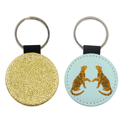 Mirrored Tigers - personalised picture keyring by Ella Seymour