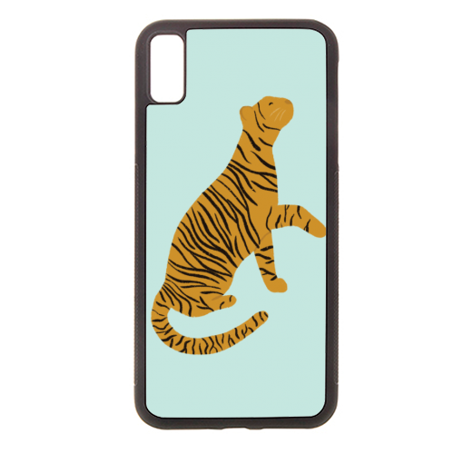 Mirrored Tigers - Rubber phone case by Ella Seymour