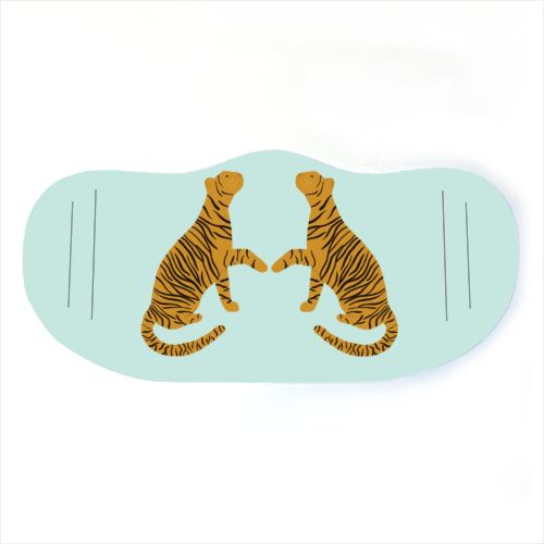 Mirrored Tigers - washable face mask by Ella Seymour