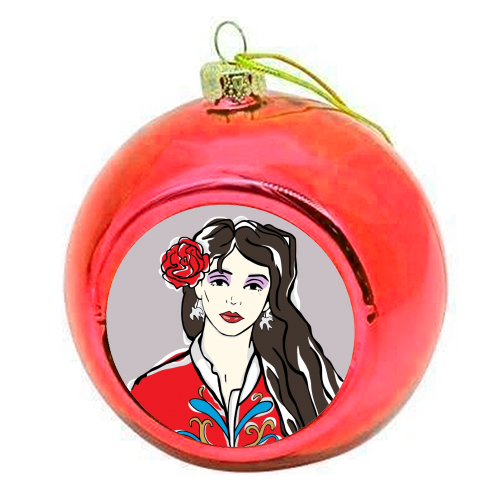 Kate - colourful christmas bauble by Bec Broomhall