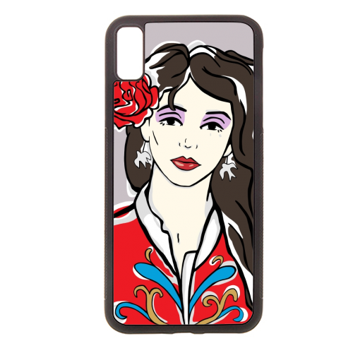 Kate - Rubber phone case by Bec Broomhall
