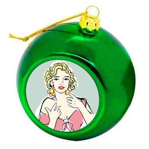 Marilyn - colourful christmas bauble by Bec Broomhall