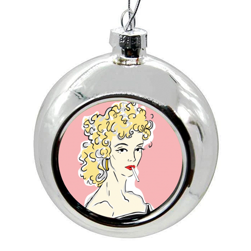 Olivia - colourful christmas bauble by Bec Broomhall