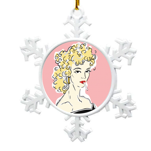 Olivia - snowflake decoration by Bec Broomhall