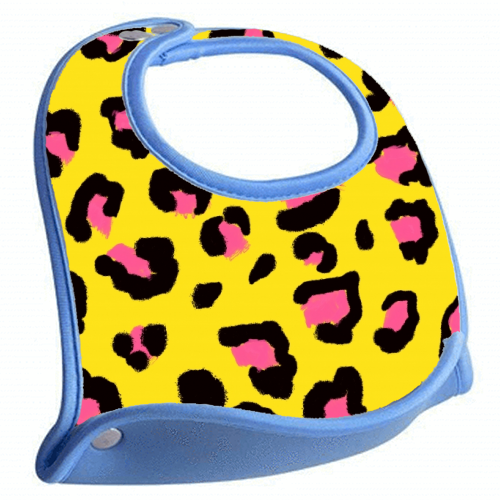 Leopard print yellow and pink - crumb catcher by Cheryl Boland