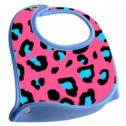 Leopard print pink and blue - crumb catcher by Cheryl Boland