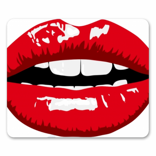 LIPS - personalised mouse mat by Wallace Elizabeth