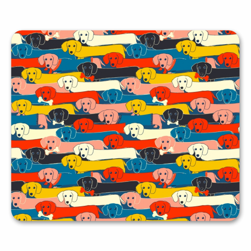 Long dog pattern - personalised mouse mat by Ania Wieclaw