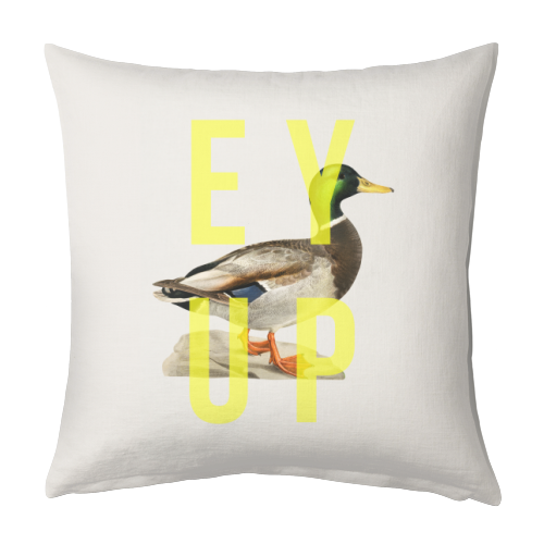 Ey Up Duck - designed cushion by The 13 Prints