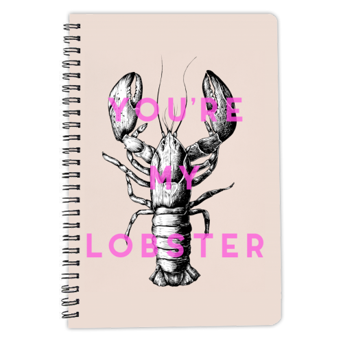 You're My Lobster - designed notebook by The 13 Prints