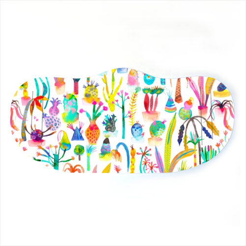 Watercolor Lush Garden - washable face mask by Ninola Design