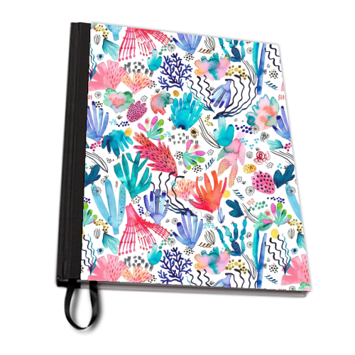 Watercolor Coral Reef - designed notebook by Ninola Design