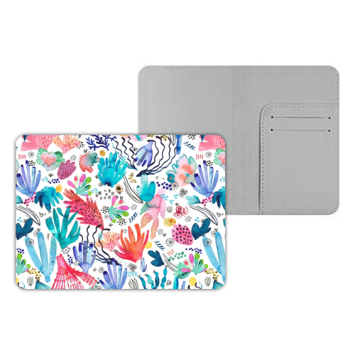 Watercolor Coral Reef - designer passport cover by Ninola Design
