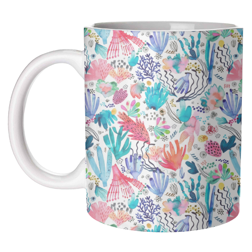 Watercolor Coral Reef - unique mug by Ninola Design