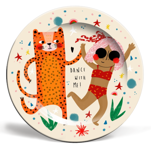 DANCE WITH ME - ceramic dinner plate by Nichola Cowdery