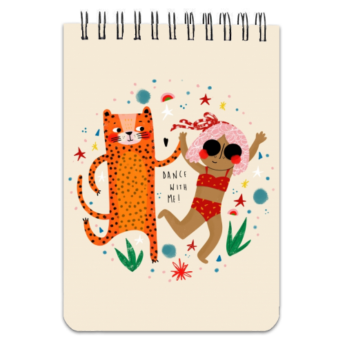 DANCE WITH ME - designed notebook by Nichola Cowdery