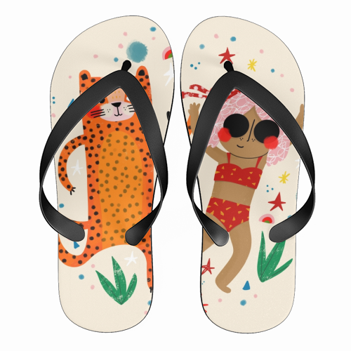 DANCE WITH ME - funny flip flops by Nichola Cowdery