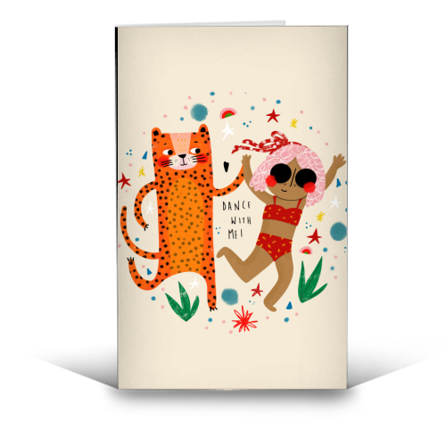 DANCE WITH ME - funny greeting card by Nichola Cowdery