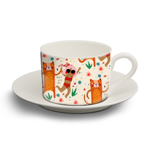 DANCE WITH ME - personalised cup and saucer by Nichola Cowdery