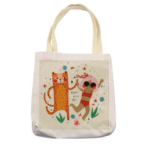 DANCE WITH ME - printed tote bag by Nichola Cowdery