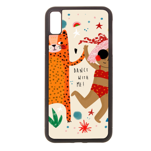 DANCE WITH ME - Rubber phone case by Nichola Cowdery