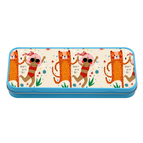 DANCE WITH ME - tin pencil case by Nichola Cowdery