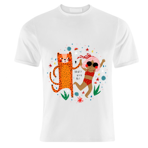 DANCE WITH ME - unique t shirt by Nichola Cowdery