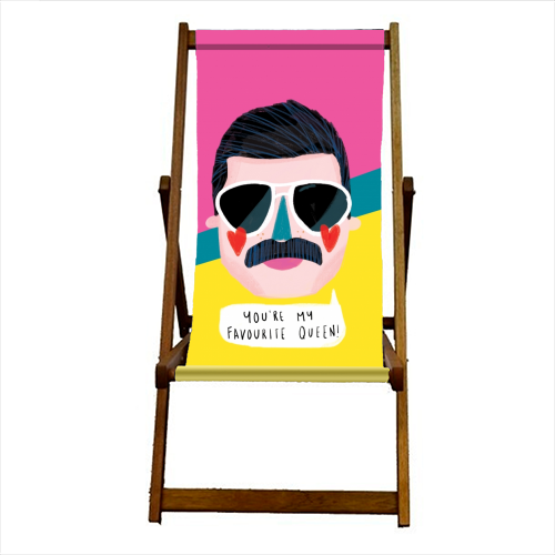 FAVOURITE QUEEN - canvas deck chair by Nichola Cowdery
