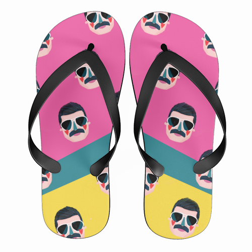 FAVOURITE QUEEN - funny flip flops by Nichola Cowdery