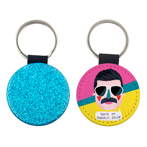 FAVOURITE QUEEN - personalised leather keyring by Nichola Cowdery