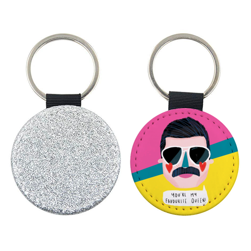 FAVOURITE QUEEN - personalised picture keyring by Nichola Cowdery