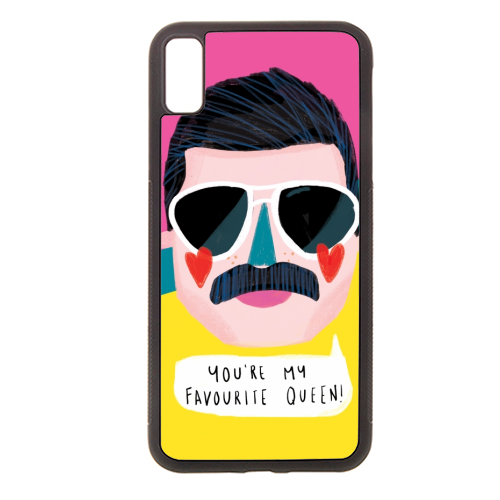FAVOURITE QUEEN - Rubber phone case by Nichola Cowdery
