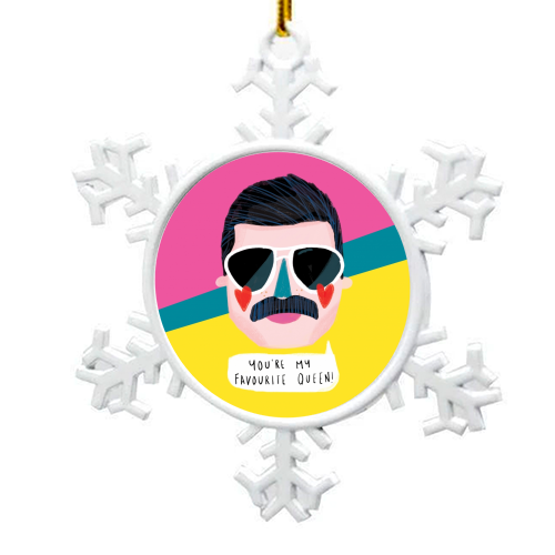 FAVOURITE QUEEN - snowflake decoration by Nichola Cowdery