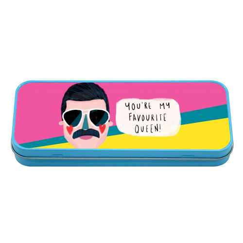 FAVOURITE QUEEN - tin pencil case by Nichola Cowdery