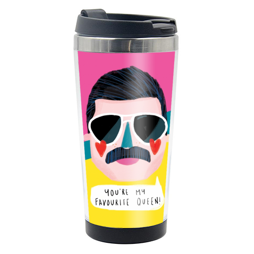 FAVOURITE QUEEN - travel water bottle by Nichola Cowdery