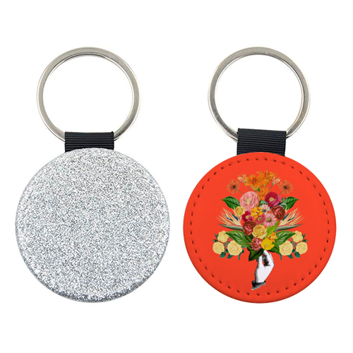 Botanical (Red) - personalised picture keyring by Desirée Feldmann