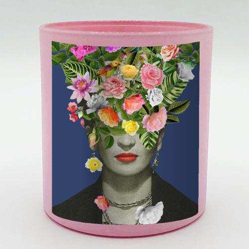Frida Floral (Blue) - Candle by Desirée Feldmann