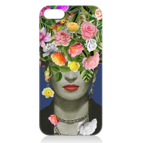 Frida Floral (Blue) - unique phone case by Desirée Feldmann