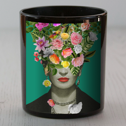 Frida Floral (Green) - Candle by Desirée Feldmann