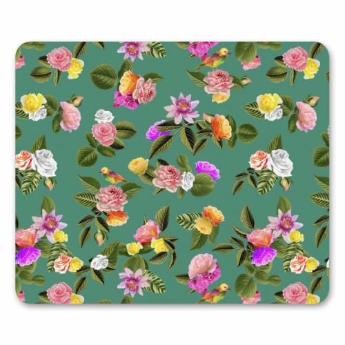 Frida Floral (Green) - personalised mouse mat by Desirée Feldmann