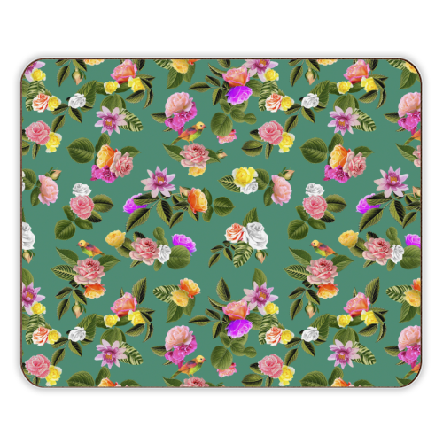Frida Floral (Green) - photo placemat by Desirée Feldmann