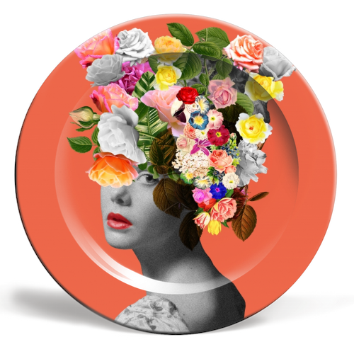 Orange Lady - personalised dinner plate by Desirée Feldmann