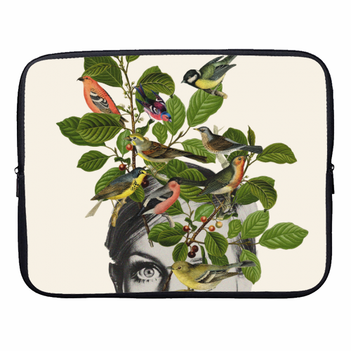 Twiggy Eyes - designer laptop sleeve by Desirée Feldmann