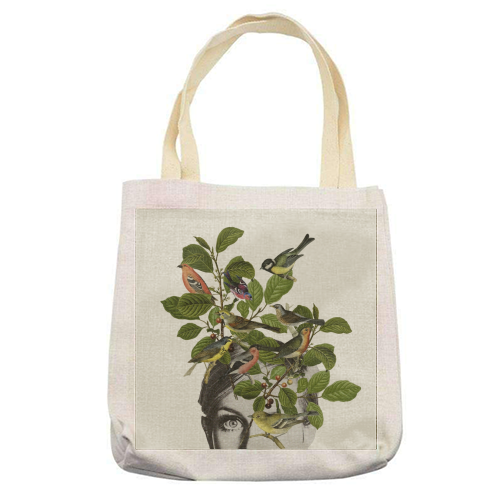 Twiggy Eyes - printed tote bag by Desirée Feldmann