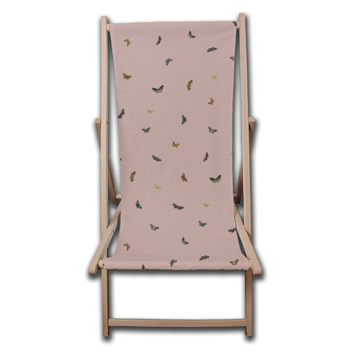 Twiggy Surprise (Pink) - canvas deck chair by Desirée Feldmann