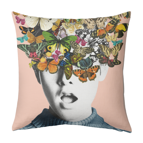 Twiggy Surprise (Pink) - designed cushion by Desirée Feldmann