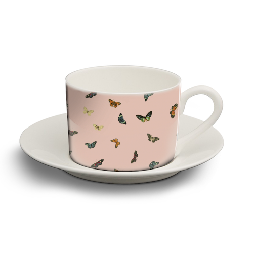 Twiggy Surprise (Pink) - personalised cup and saucer by Desirée Feldmann
