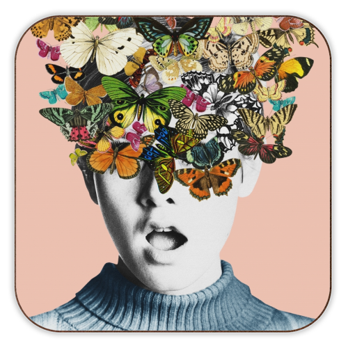 Twiggy Surprise (Pink) - personalised drink coaster by Desirée Feldmann