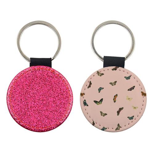 Twiggy Surprise (Pink) - personalised leather keyring by Desirée Feldmann